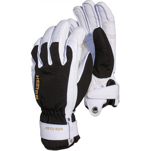 Hestra Army Leather Short Gore Tex Glove Black White