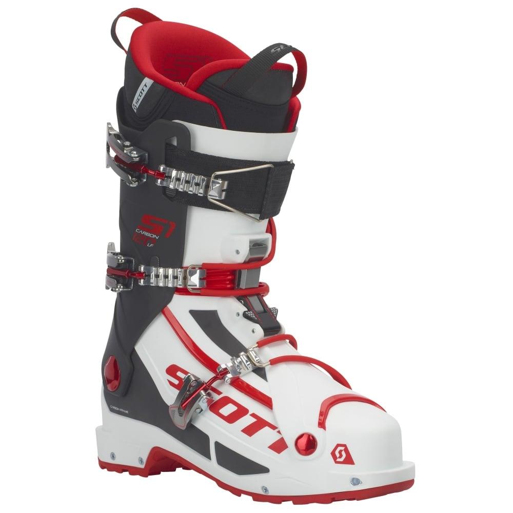 Scott S1 Longfiber Touring Boot White Red Ski Bartlett