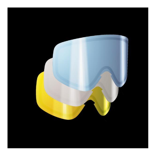 POC Lens Iris Single Lens 3 Pack (Small) - Smokey Yellow, Blue and Transparent