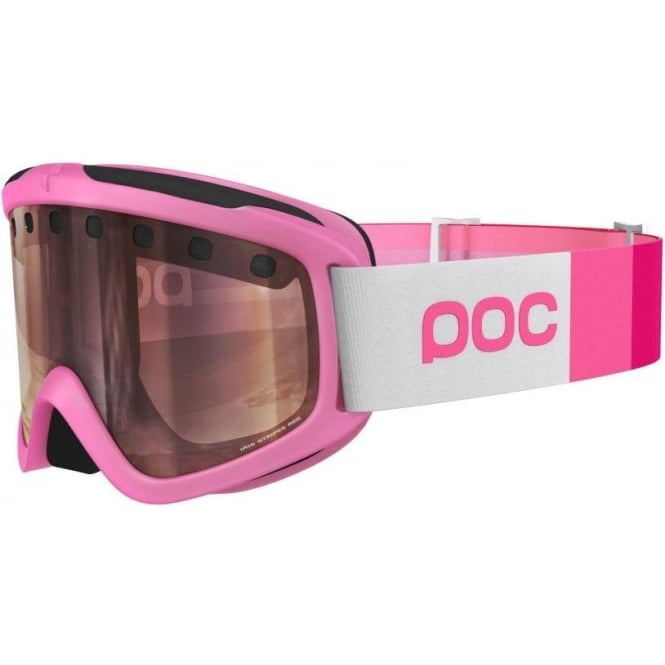 POC Iris Stripes Goggles (Regular) - Actinium Pink with Bronze/Silver Mirror Lens