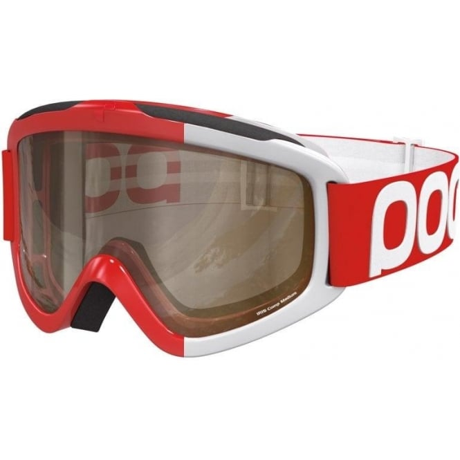 POC Iris Comp Goggles (Large) - Bohrium Red with Brown, Clear and Smokey Yellow Bonus Lenses
