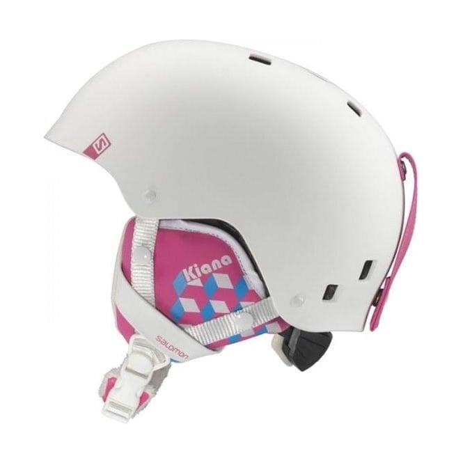 Salomon Junior Kiana Helmet - White/Pink