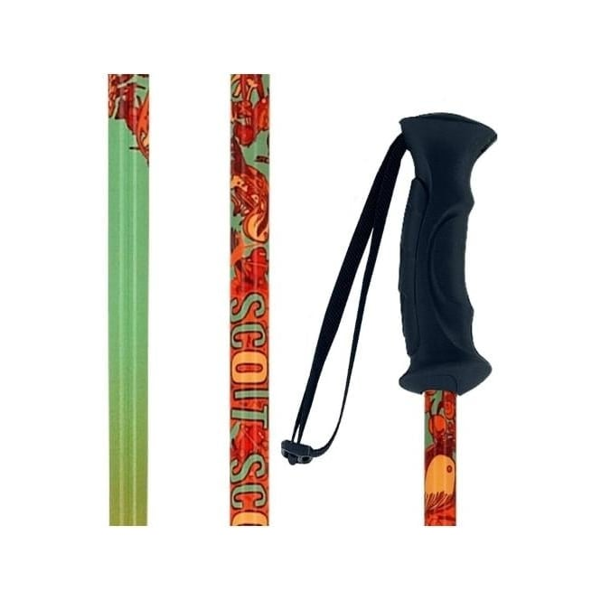 Scott Hero Kids Ski Pole - Green/Orange (2013)