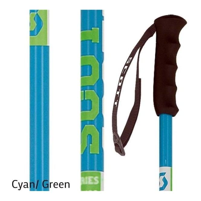 Scott Jr Team Issue Ski Poles - Cyan
