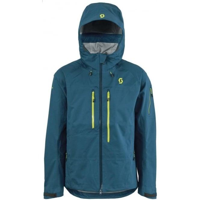 Scott Mens Tech Jacket Explorair 3l Blue Ski Jackets