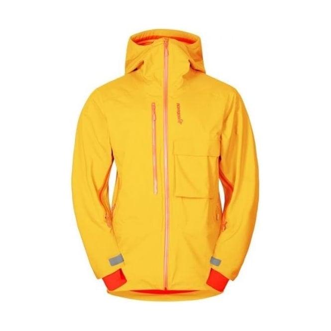 Norrona Mens Lyngen Driflex3 Jacket - Saffron Yellow