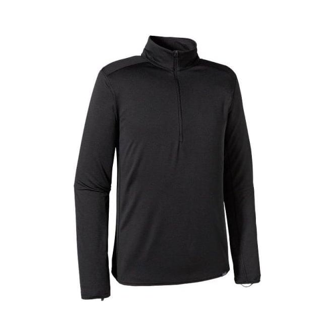 Patagonia Mens Mid Layer Capilene Midweight Zip Neck - Black