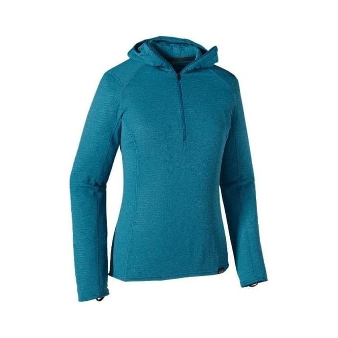 Patagonia Wmns Mid Layer Capilene Thermal Weight Zip Neck Hoody-  Blue