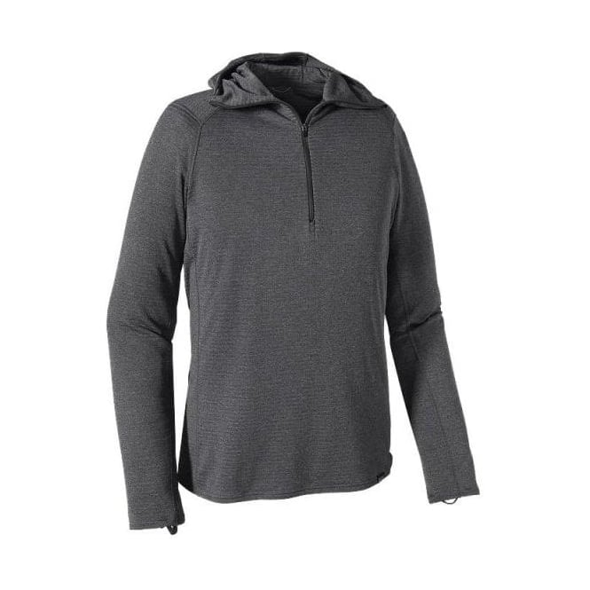 Patagonia Mens Mid Layer Capilene Thermal Weight Zip Neck Hoody - Grey