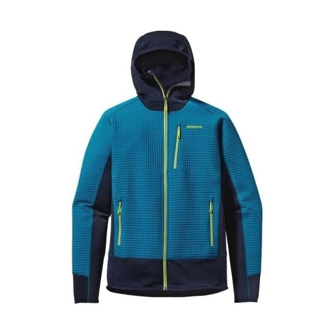 Patagonia Mens Mid Layer Dual Aspect Hoody - Underwater Blue