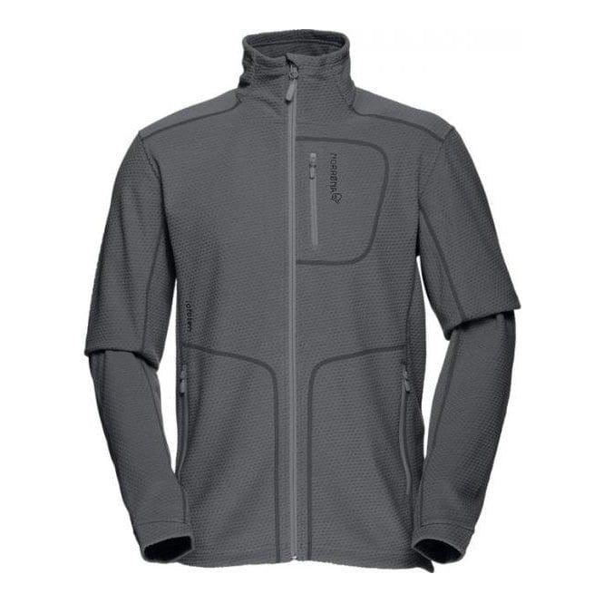 Norrona Mens Mid Layer Lofoten Warm1 Jacket - Cool Black