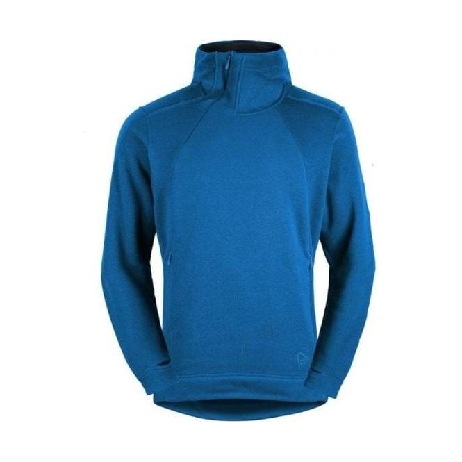 Norrona Mens Mid Layer Roldal Polartec Thermal Pro Hoodie - Denimite Blue