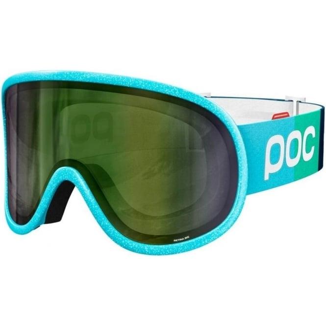 POC Retina Big Julia Mancuso Ed. Goggles - Julia Blue with Persimmon/Green Mirror Lens