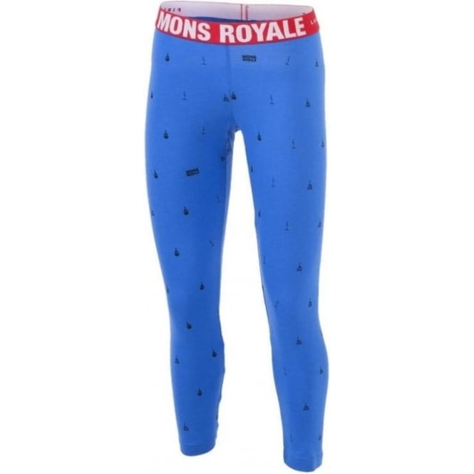 Mons Royale Wmns Base Layer Leggings - Blue