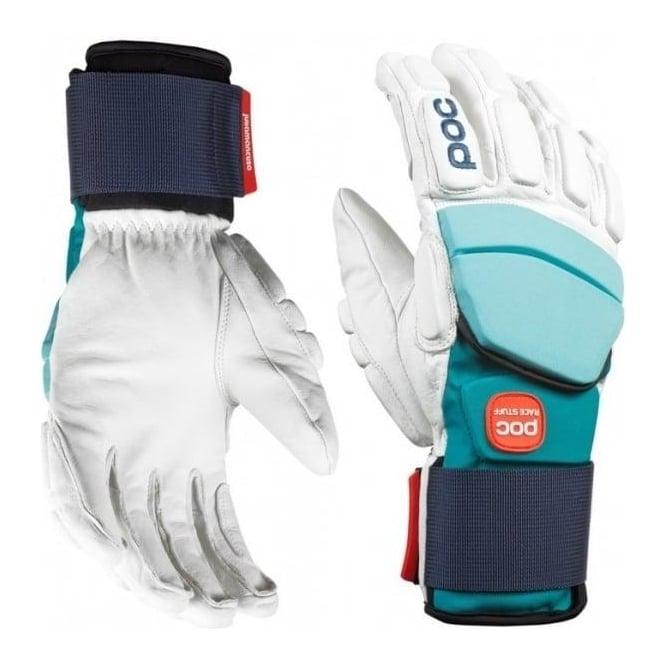 POC Super Palm Comp Julia Race Gloves - White/Julia Blue