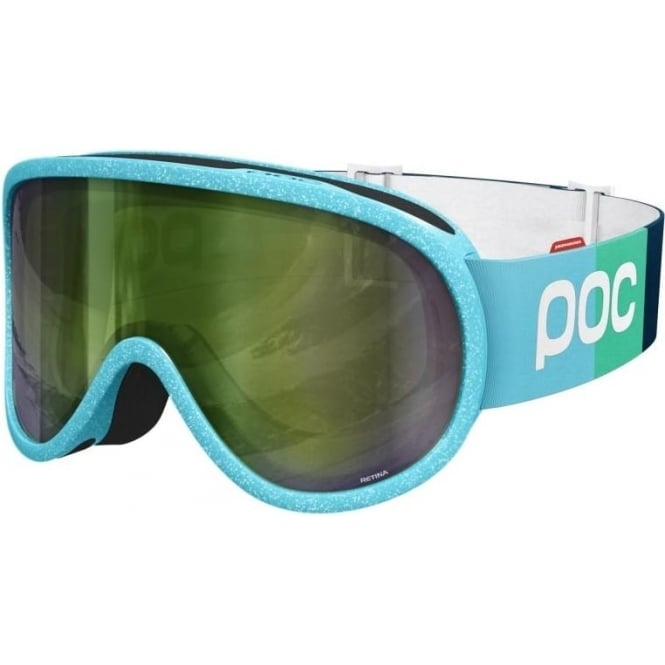 POC Retina Comp Race Julia Goggles - Blue with Persimmon/Green Mirror Lens