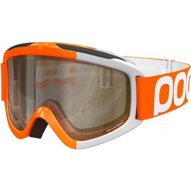 POC Iris Comp Race Goggles (Medium)- Zink Orange with Smokey Yellow and Transparent Bonus Lenses