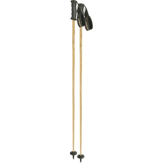 Komperdell Ski Poles Carbon Bamboo 16mm