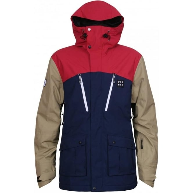 Planks Men's Good Times 2 Layer Tech Jacket - Navy Blue