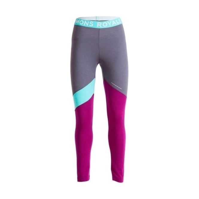 Mons Royale Wmns Christy Leggings - Pinot / Mint / Charcoal
