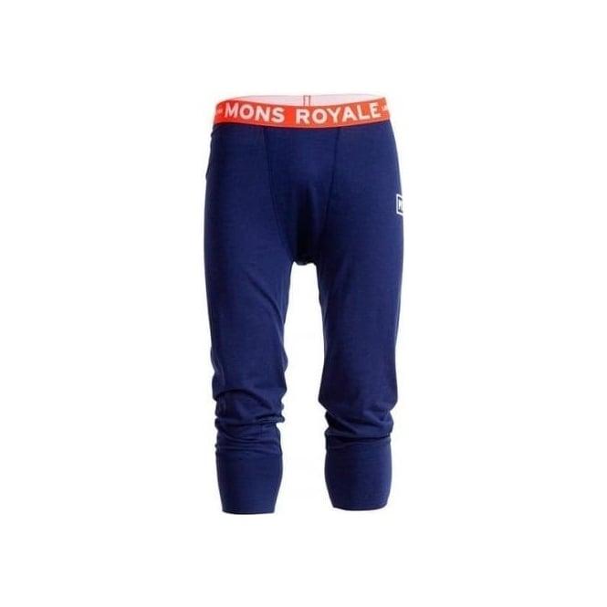 Mons Royale Men's Merino Shaun-off 3/4 Long John - Navy