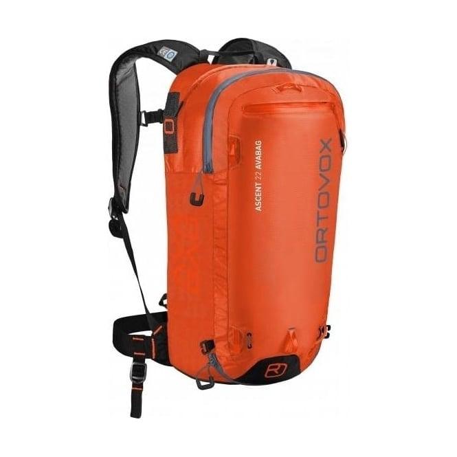 Ortovox Ascent 22 Avabag Avalanche Airbag Backpack - Crazy Orange