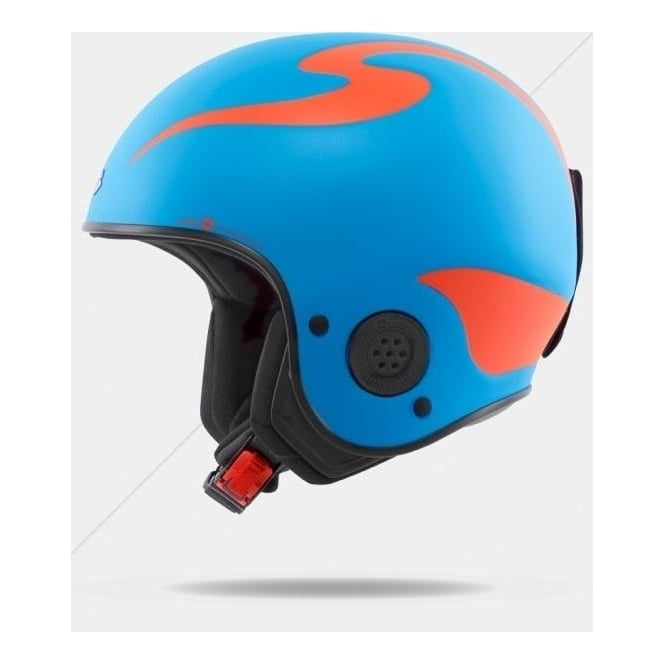 Sweet Protection Rooster Discesa S Race Helmet - Bird Blue ( FIS Approved )