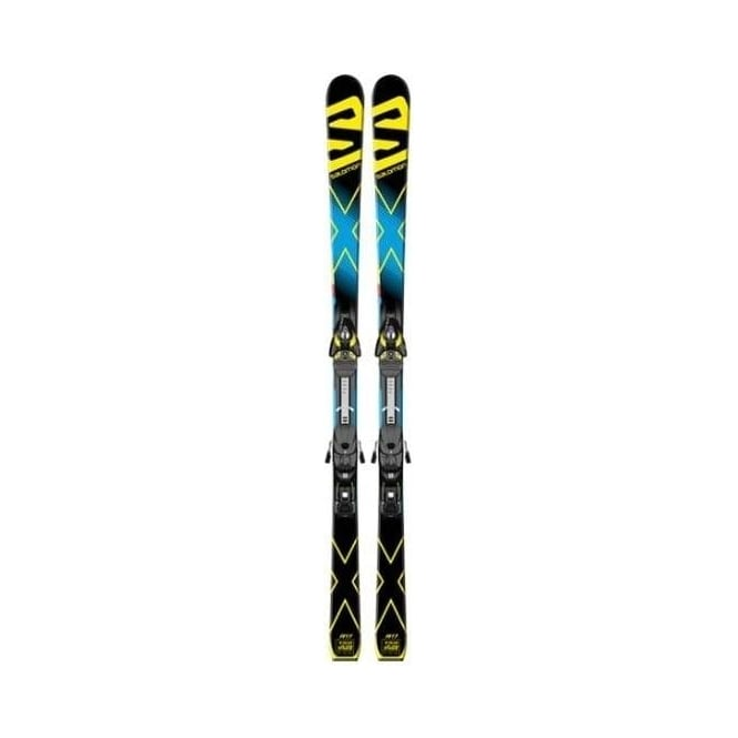 Salomon X-Race GS Junior Race Skis 159cm + Z10 Binding 17m Radius 2016