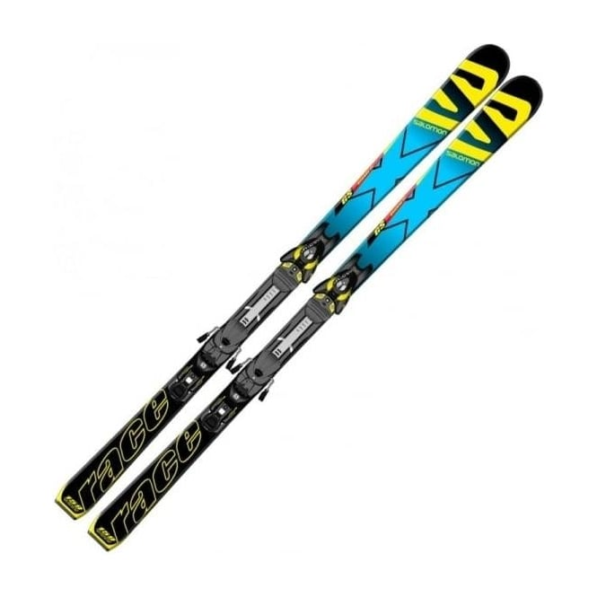 Salomon X-Race GS Junior Race Skis 159cm + Z10 Binding 17m Radius 2015