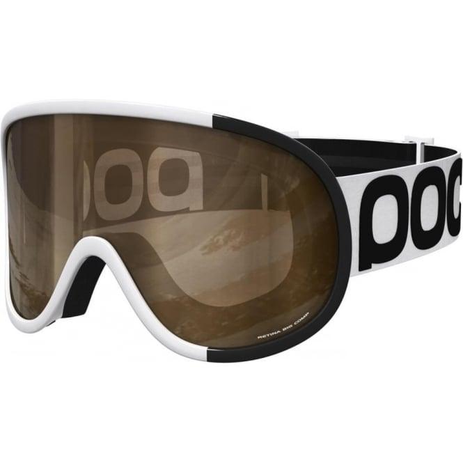 POC Retina Comp Goggles Uranium Black Smokey Yellow Lens (Plus Spare Clear Lens)
