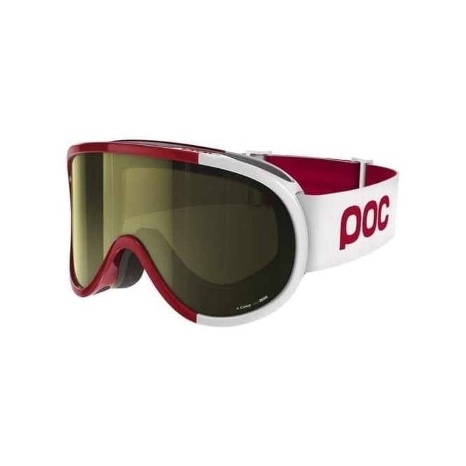 POC Retina Comp Goggles Glucose Red Smokey Yellow Lens (Plus Spare Clear Lens)