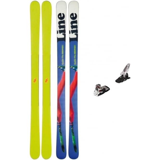 Line Men Afterbang Park Ski 166cm + Griffon 90mm Bindings ( 2014 )