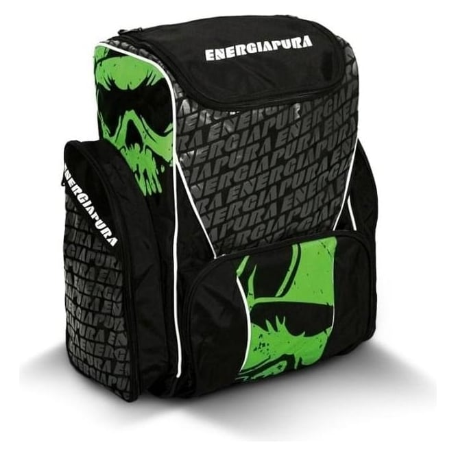 Energiapura Race Bootbag/Backpack Large 72L - Black/Green with Ski Bartlett Embroidered Badge