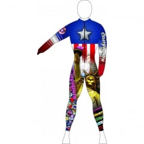 Adult Unpadded Race Catsuit AMERICA