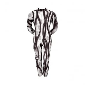 Adult Catsuit WAVE Padded - Black/Grey