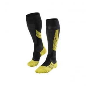 Unisex SK2 Ski Socks - Black/Lime