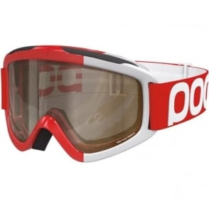 Iris Comp Goggles (Large) - Bohrium Red with Brown, Clear and Smokey Yellow Bonus Lenses