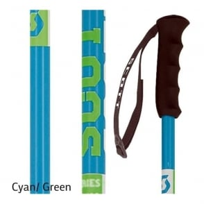 Jr Team Issue Ski Poles - Cyan