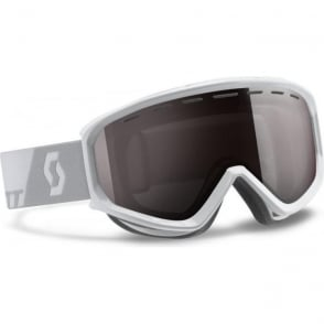 Scott Level Goggles - White with Silver Chrome Lens