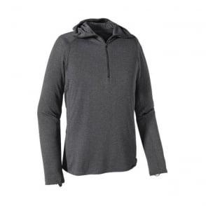 Mens Mid Layer Capilene Thermal Weight Zip Neck Hoody - Grey