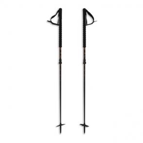 Duos Freebird Touring Adjustable Ski Poles - Black/Orange