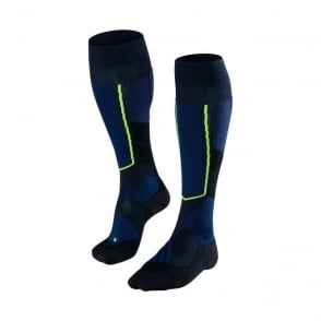 Men's ST4 Wool Ski Touring Socks - Marine Blue