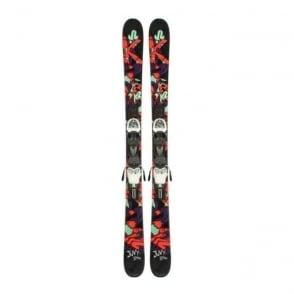 K2 Juvy Skis 119cm + Fastrak2 7.0 Binding (2014)