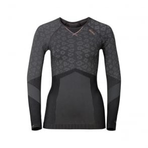 Wmns Blackcomb Evolution Warm Baselayer Shirt - Concrete Grey/Black/Fleur De Lotus