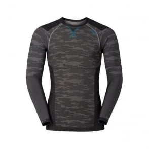 Mens Blackcomb Evolution Warm L/s Baselayer Shirt - Concrete Grey/Black