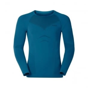 Mens Evolution Warm L/s Baselayer Shirt - Seaport Blue /Black