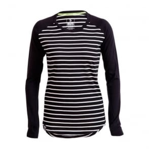 Wmns Merino Rocker Raglan LS - Stripes / Black