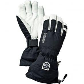 Mens Alpine Pro Army Leather Heli Ski Glove - Black/White