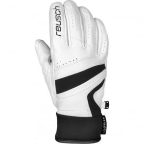 Mikaela Meida Dry Race Gloves - White/Black