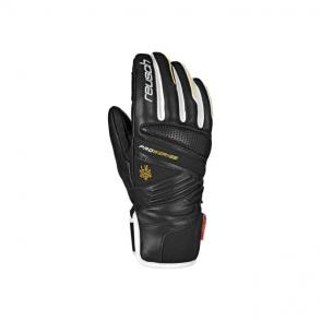 Lindsey Race Gloves - Black/White/Gold